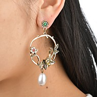 cheap -Women's Hollow Out Drop Earrings Imitation Pearl Earrings Bird Flower Ladies Vintage Elegant Jewelry Gold For Wedding Festival 1 Pair