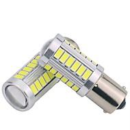 abordables Intermitentes para Coche-2pcs 1156 Coche Bombillas 5 W SMD 5630 300 lm 33 LED Luz de Intermitente Para Motores generales Universal