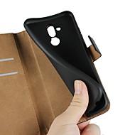 お買い得  携帯電話ケース-ケース 用途 Huawei Y6 (2018) / Huawei Nova 3i ウォレット / カードホルダー / スタンド付き フルボディーケース ソリッド ハード 本革 のために Huawei Nova 3i / Mate 10 / Mate 10 lite