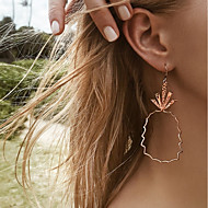 cheap -Women's Hollow Out Drop Earrings Earrings Pineapple Ladies Stylish Simple Jewelry Gold For Daily 1 Pair