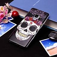 Недорогие Чехлы и кейсы для Galaxy S8-Кейс для Назначение SSamsung Galaxy S9 Plus / S9 IMD / Полупрозрачный Кейс на заднюю панель Черепа Мягкий ТПУ для S9 / S9 Plus / S8 Plus