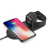 Cwxuan ワイヤレスチャージャー USB充電器 USB ケーブル付き / QC 3.0 / ワイヤレスチャージャー 1 A DC 9V / DC 5V のために Apple Watch Series 4/3/2/1 / Apple Watch Series 3 / Apple Watch Series 2 iPhone X / iPhone 8 Plus / iPhone 8