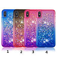 billiga iPhone 8 och Plus-fodral-fodral Till Apple iPhone XS / iPhone XS Max Strass / Flytande vätska / Genomskinlig Skal Färggradient Hårt TPU för iPhone XS / iPhone XR / iPhone XS Max