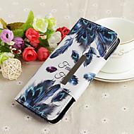 Недорогие Чехлы и кейсы для Galaxy S8-Кейс для Назначение SSamsung Galaxy S9 Plus / S9 Кошелек / со стендом / С узором Чехол Перья Твердый ТПУ для S9 / S9 Plus / S8 Plus