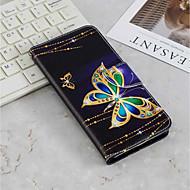 levne -Carcasă Pro Sony Xperia XA2 / Xperia XA3 Peněženka / Pouzdro na karty / se stojánkem Celý kryt Motýl Pevné PU kůže pro Xperia XZ2 / Xperia XA2 Ultra / Xperia XA2