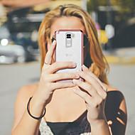 お買い得  携帯電話ケース-BENTOBEN ケース 用途 LG LG Stlyo 2 メッキ仕上げ / 超薄型 / キラキラ仕上げ バックカバー ソリッド ソフト TPU / PC のために LG StyLo 2