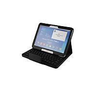 Недорогие Чехлы и кейсы для Samsung Tab-Кейс для Назначение SSamsung Galaxy Tab 4 10.1 с клавиатурой Чехол Однотонный Твердый Кожа PU для Tab 4 10.1