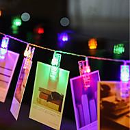お買い得  -zdm 4m 40個のLEDの写真の文字列のライト40の写真のクリップ電池の電源またはusbのインターフェイスおとぎ話の光り輝くライトシャンジング写真カードとアートワーク暖かい白dc5v