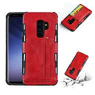 Недорогие Чехлы и кейсы для Galaxy S-Кейс для Назначение SSamsung Galaxy S9 Plus / S9 Бумажник для карт / Защита от удара / Защита от пыли Кейс на заднюю панель Однотонный Мягкий Кожа PU для S9 / S9 Plus