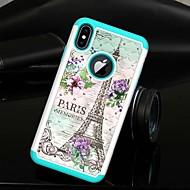 Недорогие Кейсы для iPhone 8 Plus-Кейс для Назначение Apple iPhone XS / iPhone XS Max Стразы / Полупрозрачный Кейс на заднюю панель Эйфелева башня Твердый ТПУ / ПК для iPhone XS / iPhone XR / iPhone XS Max
