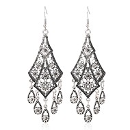 cheap -Women's Hollow Out Drop Earrings Earrings Ladies Vintage Sweet Jewelry Silver For Daily Festival 1 Pair