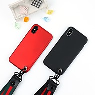 Недорогие Кейсы для iPhone 8-Кейс для Назначение Apple iPhone X / iPhone 8 Защита от удара / Защита от пыли / Защита от влаги Кейс на заднюю панель Однотонный Мягкий ТПУ для iPhone X / iPhone 8 Pluss / iPhone 8
