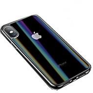 Недорогие Кейсы для iPhone 8 Plus-Кейс для Назначение Apple iPhone XS / iPhone XR С узором Чехол Однотонный Твердый Закаленное стекло для iPhone XS / iPhone XR / iPhone XS Max