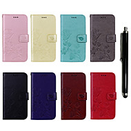 cheap Cell Phone Accessories-Case For Samsung Galaxy J5(2016) / J3 (2017) Wallet / Card Holder / with Stand Full Body Cases Flower Hard PU Leather for J7 (2017) / J7 (2016) / J5 (2017)