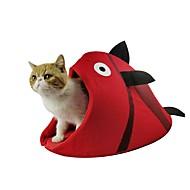 abordables Accesorios y Ropa para Gatos-Perros / Gatos Camas Mascotas Forro Animal Plegable / Diseño de Caricatura / Adorable Beige / Rojo Para mascotas