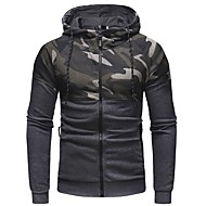 Men's Sports Long Sleeve Hoodie - Camouflage Hooded Black XL / Winter