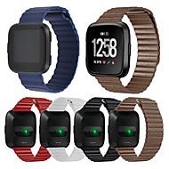 Недорогие Аксессуары для смарт-часов-Ремешок для часов для Fitbit Versa Fitbit Спортивный ремешок Натуральная кожа Повязка на запястье