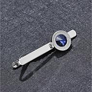 abordables -Homme Attachez Clips Classique Alliage Quotidien / Formel Pince Cravate / Zircon cubique