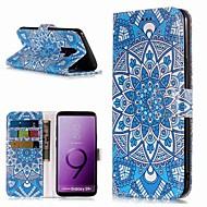 Недорогие Чехлы и кейсы для Galaxy S7 Edge-Кейс для Назначение SSamsung Galaxy S9 / S8 Plus Кошелек / Бумажник для карт / со стендом Чехол Цветы Твердый Кожа PU для S9 / S9 Plus / S8 Plus