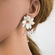 abordables -Femme 3D Boucles d'oreille goujon - Imitation de perle, Résine, S925 argent sterling Fleur Elégant, Classique Beige / Blanc Pour Quotidien