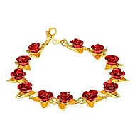 ieftine -Pentru femei Brățară Camee Trandafiri femei Modă Articole de ceramică Bijuterii brățară Auriu / Argintiu / Roz auriu Pentru Cadou Zilnic