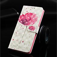 Недорогие Чехлы и кейсы для Galaxy J-Кейс для Назначение SSamsung Galaxy J6 Кошелек / Бумажник для карт / со стендом Чехол Цветы Твердый Кожа PU для J8 (2018) / J7 (2018) / J6 Plus