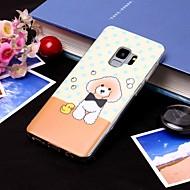 Недорогие Чехлы и кейсы для Galaxy S9-Кейс для Назначение SSamsung Galaxy S9 Plus / S9 IMD / Полупрозрачный Кейс на заднюю панель С собакой Мягкий ТПУ для S9 / S9 Plus / S8 Plus