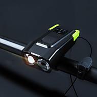 preiswerte Taschenlampen, Laternen & Lichter-Fahrradlicht / Sicherheitsleuchten Dual-LED Radlichter 5mm Lampe / LED Radsport Wasserfest, Tragbar, Schnellspanner Li-Polymer 4000 lm Eingebaute Li-Batterie angetrieben Natürliches Weiß / Naturweiß