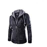 お買い得  -AOWOFS PY31 オートバイの服 ジャケット のために 男性用 PUレザー / アクリル繊維 春 & 秋 / 冬 防水 / 耐摩耗性 / 保護
