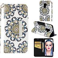 Недорогие Чехлы и кейсы для Galaxy S7-Кейс для Назначение SSamsung Galaxy S9 Plus / S9 Кошелек / Бумажник для карт / со стендом Чехол Мандала Твердый Кожа PU для S9 / S9 Plus / S8 Plus