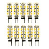 povoljno -SENCART 10pcs 3 W LED svjetla s dvije iglice 180 lm G4 T 13 LED zrnca SMD 5050 Ukrasno Toplo bijelo Bijela Crveno 12 V