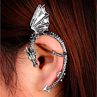 cheap -Women's 3D Ear Cuff Earrings Dragon Ladies Punk Jewelry Gold / Black / Silver For Masquerade Street 1pc