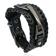 abordables -Homme Le style rétro Bracelets en cuir - Cuir Punk, Européen, Mode Bracelet Noir / Marron Pour Quotidien Plein Air