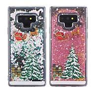 Недорогие Чехлы и кейсы для Galaxy Note-Кейс для Назначение SSamsung Galaxy Note 9 / Note 8 Защита от удара / Движущаяся жидкость / Прозрачный Кейс на заднюю панель Рождество Мягкий ТПУ для Note 9 / Note 8