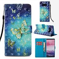 Недорогие Чехлы и кейсы для Galaxy Note-Кейс для Назначение SSamsung Galaxy Note 8 Кошелек / Бумажник для карт / Флип Чехол Бабочка Твердый Кожа PU для Note 8