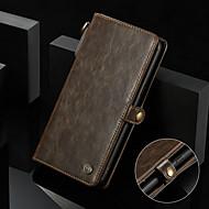 Недорогие Чехлы и кейсы для Galaxy S8-CaseMe Кейс для Назначение SSamsung Galaxy S8 Кошелек / Бумажник для карт / Защита от удара Чехол Однотонный Твердый Кожа PU для S8