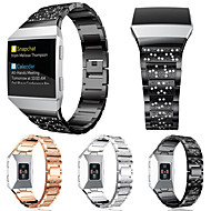 Недорогие Аксессуары для смарт-часов-Ремешок для часов для Fitbit ionic Fitbit Спортивный ремешок / Дизайн украшения Нержавеющая сталь Повязка на запястье