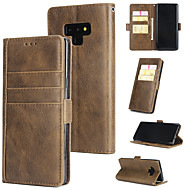Недорогие Чехлы и кейсы для Galaxy Note-Кейс для Назначение SSamsung Galaxy Note 9 Кошелек / Бумажник для карт / Флип Кейс на заднюю панель Однотонный Твердый Кожа PU для Note 9