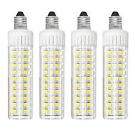 お買い得  LED コーン型電球-4本 8.5 W 1105 lm E11 LEDコーン型電球 T 125 LEDビーズ SMD 2835 調光可能 温白色 / クールホワイト 220 V