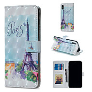cheap iPhone XS Max Cases-Case For Apple iPhone XR / iPhone XS Max Wallet / Card Holder / with Stand Full Body Cases Eiffel Tower Hard PU Leather for iPhone XS / iPhone XR / iPhone XS Max