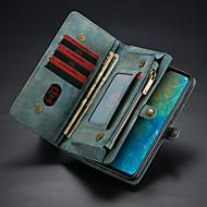 お買い得  携帯電話ケース-CaseMe ケース 用途 Huawei Huawei Mate 20 ウォレット / カードホルダー / スタンド付き フルボディーケース ソリッド ハード PUレザー のために Huawei Mate 20