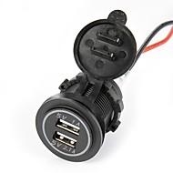 Недорогие Автомобильные зарядные устройства-автоматический двойной USB-зарядное устройство для автомобиля