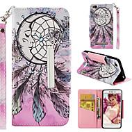 preiswerte Handyhüllen-Hülle Für Xiaomi Redmi 4a Geldbeutel / Kreditkartenfächer / Flipbare Hülle Ganzkörper-Gehäuse Traumfänger Hart PU-Leder für Xiaomi Redmi 4A