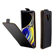 Недорогие Чехлы и кейсы для Galaxy Note-Кейс для Назначение SSamsung Galaxy Note 9 Бумажник для карт / Флип Чехол Однотонный Твердый Кожа PU для Note 9