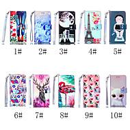 Недорогие Чехлы и кейсы для Galaxy S7 Edge-Кейс для Назначение SSamsung Galaxy S9 Plus / S8 Plus Кошелек / Бумажник для карт / со стендом Чехол Кот / С собакой / Фламинго Твердый Кожа PU для S9 / S9 Plus / S8 Plus