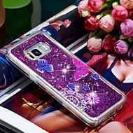 Недорогие Чехлы и кейсы для Galaxy S8-Кейс для Назначение SSamsung Galaxy S8 Защита от удара / Сияние и блеск Кейс на заднюю панель Бабочка / Сияние и блеск Мягкий ТПУ для S8