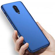 お買い得  携帯電話ケース-ケース 用途 OnePlus OnePlus 6 / One Plus 6T つや消し バックカバー ソリッド ハード PC のために OnePlus 6 / One Plus 6T / One Plus 5