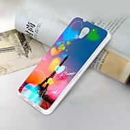 お買い得  携帯電話ケース-ケース 用途 ZTE ZTE Blade A510 超薄型 / パターン バックカバー ハート / エッフェル塔 ソフト TPU のために ZTE Blade A510
