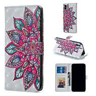 Недорогие Кейсы для iPhone 8-Кейс для Назначение Apple iPhone XR / iPhone XS Max Кошелек / Бумажник для карт / со стендом Чехол Мандала Твердый Кожа PU для iPhone XS / iPhone XR / iPhone XS Max
