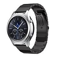 Недорогие Аксессуары для смарт-часов-Ремешок для часов для Gear S3 Frontier / Gear S3 Classic Samsung Galaxy Спортивный ремешок Нержавеющая сталь Повязка на запястье